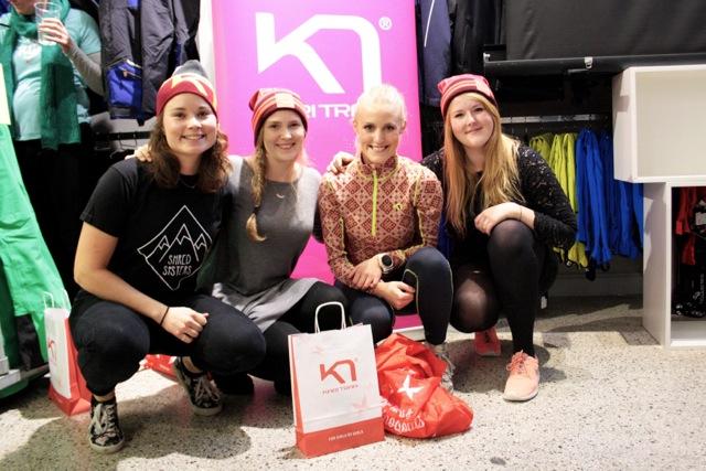 Founder af Shredsisters; Katrine Møller Jensen, Vindere af dagens konkurrence og Repræsentant fra Kari Traa