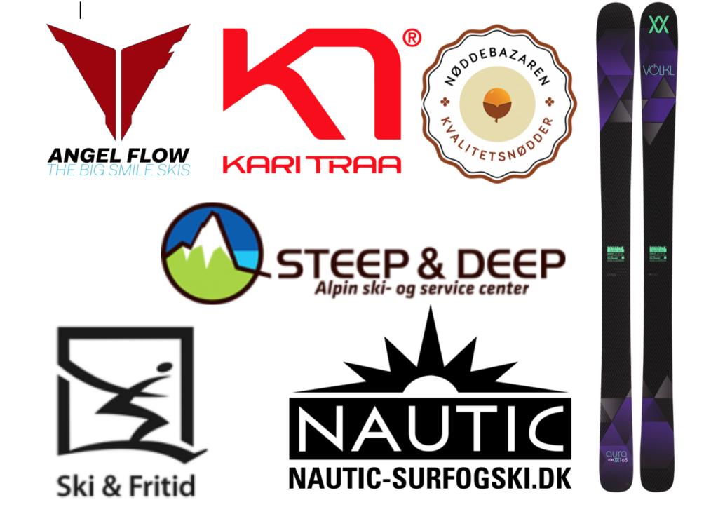 En stor tak til Völk, Kari Traa, Ski & Fritid, Nautic Surf og Ski, Steep & Deep, Angel Flow og Nøddebazaren, for alle præmierne. Men også for opbakningen til vores nyopstartede klub.