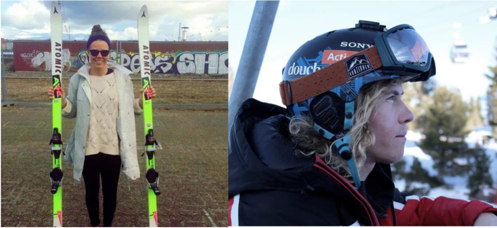 Til at bedømme alle de flotte skud fra sneen var to skarpe dommere: Johanne Bangsgaard og Rasmus DJ - To af danmarks bedste skiløbere inden for hhv. freeride og freestyle.